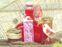 Chocolate Tia Maria sauce, peach syrup and raspberry cordial