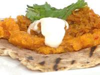Kara's Libyan pumpkin dip with Turshi Zardak carrot pickle