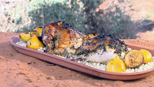 Lemon chicken with cous cous