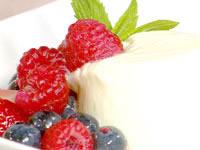 Orange yoghurt pannacotta