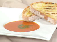 Roasted capsicum soup