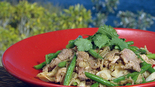 Lemongrass & pork stir-fry