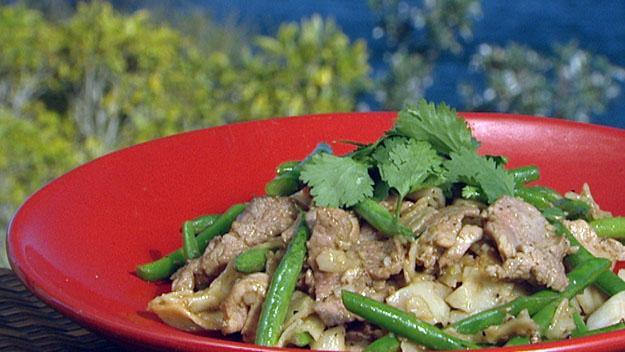 Lemongrass & pork stir-fry