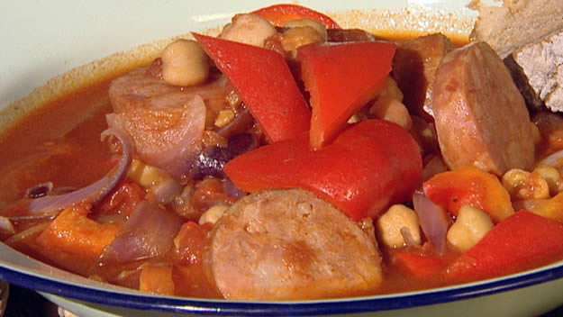 Chickpea and chorizo stew