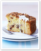 Pecan and apple crumble cake