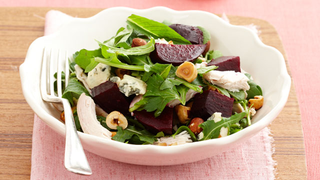 Chicken & beetroot salad