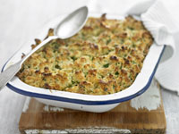 Crusted chicken and leek bake