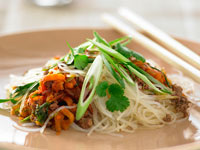Glass noodle stir-fry