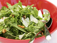 Greens and walnut salad