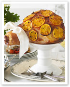 Baked ham with port and orange glaze