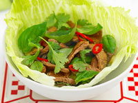 Thai basil lamb with mint and lemongrass