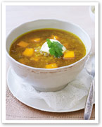 Curried lentil and pumpkin soup