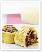 Festive fruit mince roll