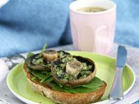 Mushroom and herb bruschetta