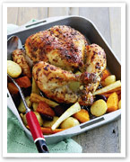 Mustard roast chicken