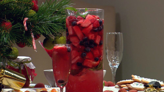 Watermelon and mixed berry punch