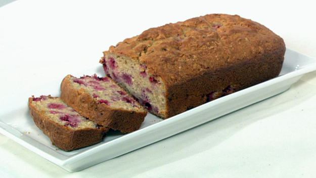 Raspberry, lemon and yogurt loaf