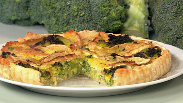 Broccoli and brie tart