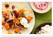 Chorizo & sweet potato tortillas
