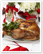 Roast turkey with pancetta and macadamia stuffing