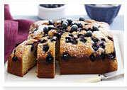 Blueberry and vanilla cake
