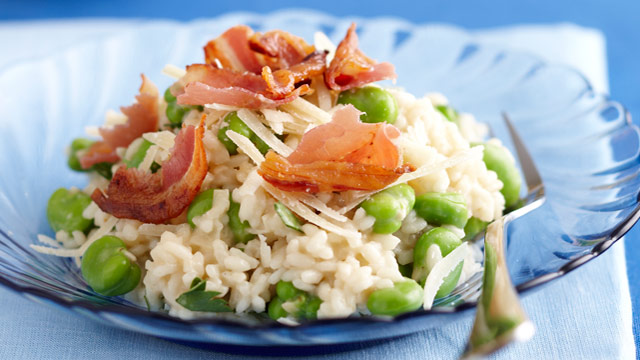 Broad bean risotto for $7.80