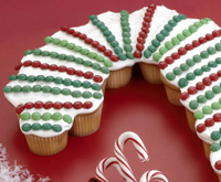 Candy cane cupcakes