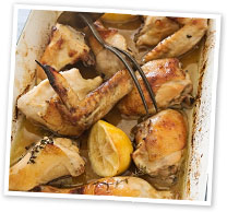 Roasted honey lemon chicken