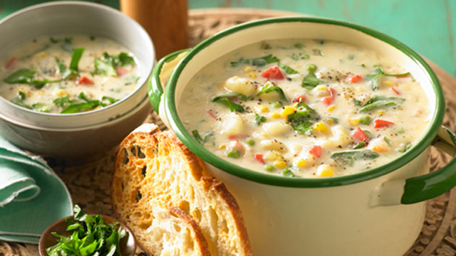 Lactose free hearty chowder