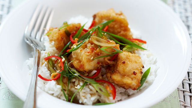 Crispy chilli fish
