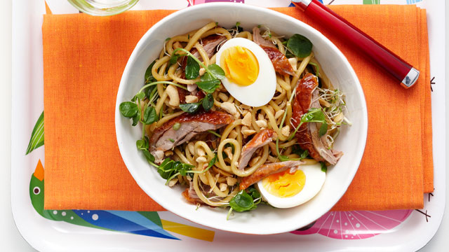 Duck with Indonesian-style noodles