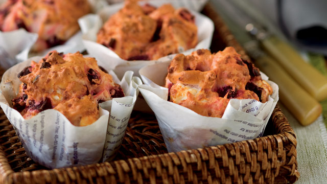 George Calombaris's roasted beetroot and feta muffins