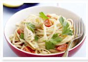 Linguine with artichokes, tomato & parsleyfor $9.25