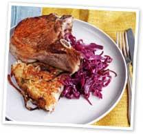 Pork chops with rosti