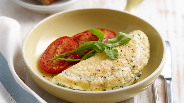 Cheese and herb omelette