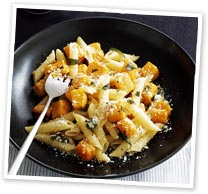 Roasted pumpkin and sage pasta