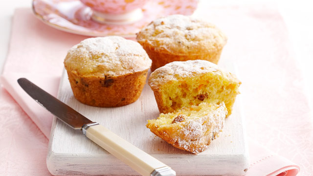 Gluten-free orange and carrot muffins