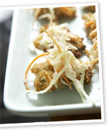 Mini chicken schnitzels with coleslaw