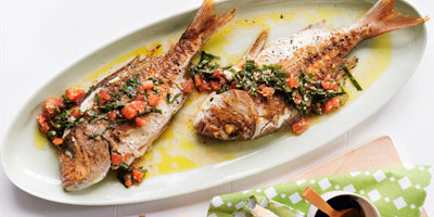Baby snapper with sauce vierge