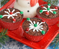 Snowflake brownies