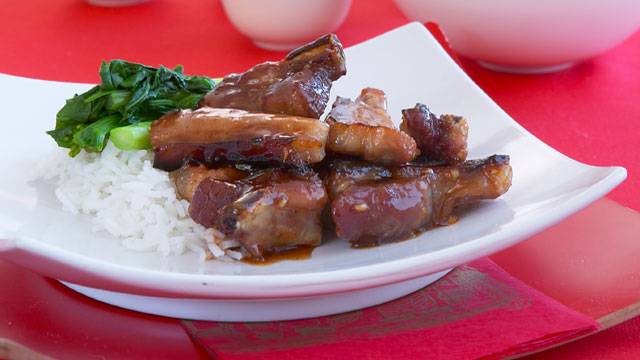 Sticky Chinese spare ribs