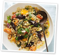 Warm roasted vegetable salad with couscous