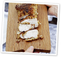 Parmesan and herb-crumbed turkey