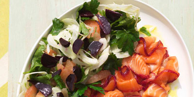 Beetroot, fennel, parsley & pink grapefruit salad