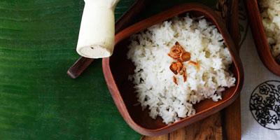 Fragrant coconut rice