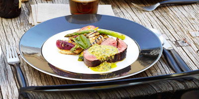 Fillet of beef with chimichurri