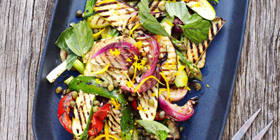 Barbecued vegetable salad