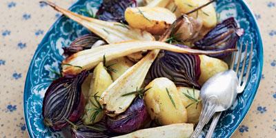 Crispy roasted vegetables