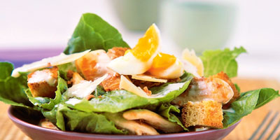 Roast chicken caesar salad