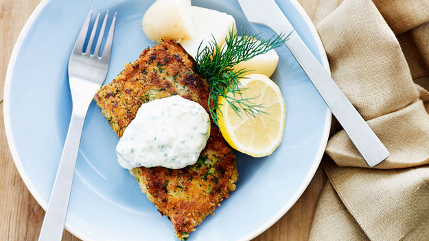 Herb crumbed fish fillets
